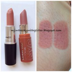 """I have another MAC Cosmetics Lipstick dupe to share with you! The next shade up on the dupe list is """"Honeylove"""", a light beige toned. Mac Dupes, Drugstore Makeup Dupes, Beauty Dupes, Beauty Products, Cute Makeup, Lip Makeup, Beauty Makeup, Mac Cosmetics Lipstick, Drugstore Makeup"""