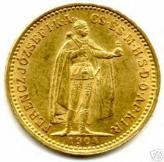 1904 gold 10 korona Hungary (reverse) Numismatic Coins, Coin Worth, Gold Money, Rock Lee, Gold Bullion, Coin Collecting, Gold Coins, Character Art, Closer