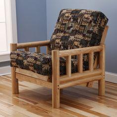 lodge peter u0027s cabin futon chair and mattress aspen lodge natural futon frame and full size mattress set      rh   pinterest