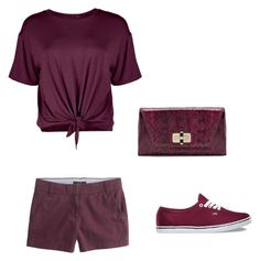 """""""???color challenge 2"""" by puppylover7896 ❤ liked on Polyvore featuring Boohoo, J.Crew, Vans and Diane Von Furstenberg"""