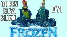 Disney Frozen Queen Elsa SLIME DIY At Home Glittery Gak Slime Flubber
