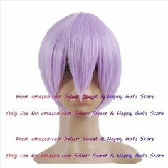 NEW fashion HOT sexy Lavender Straight Anime cosplay wigs party Masquerade girls 30CM by Sweet & Happy Girl's Anime Wigs. $31.05. Full Wigs, Change Your Looks In Seconds.Great Idea for Party Cosplay Masquerade etc.. Fashion Wigs, Janpanese Synthetic Fiber. NOT Human Hair.. Click my brand find more size & Newest Style wigs. RETURNS ACCEPTABLE IN 14 DAYS (ORIGINAL SELLING STATUS,NO WEAR PLEASE). NEW store open, Big Discount, From factory, Arrive in 2-3 weeks. Worth the wait.....