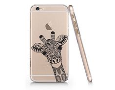 Black Henna Giraffe Slim Iphone 6 Plus 6S Plus Case, Clear Iphone 6 Plus 6S Plus Hard Accessories Case For Apple Iphone 6 Plus/6S Plus-Emerishop (AH1277) Emerishop