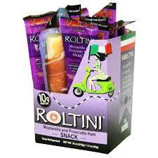 Roltini Mozzarella and Prosciutto Ham snack.  Can't get enough of these!