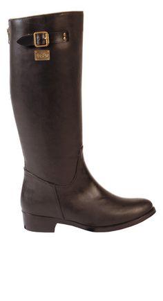 Berlin Solid Black Rain Boot