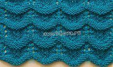 """Узор """"Волны"""" спицами.. Knitting Stiches, Knitting Books, Lace Knitting, Knitting Needles, Crochet Stitches, Knit Crochet, Knitting Designs, Knitting Patterns Free, Knit Patterns"""