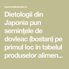 Dietologii din Japonia pun seminţele de dovleac (bostan) pe primul loc în tabelul produselor alimentare.