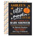 Little Pumpkin Baby Shower Invitation #halloween #happyhalloween #halloweenparty #halloweenmakeup #halloweencostume