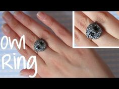 Antique Owl Ring Tutorial: Polymer Clay Ring. - YouTube