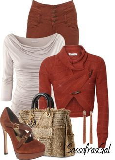 """""""A Little Rusty"""" by sassafrasgal ❤ liked on Polyvore"""