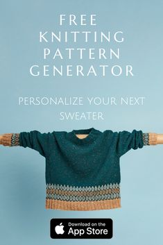 Create your custom sweater with the free Bellish knitting app. Start knitting in minutes! Knitting Paterns, Loom Knitting, Knitting Stitches, Knit Patterns, All Free Knitting, Diy Crochet And Knitting, Baby Knitting, Crochet Baby, Knitting Magazine