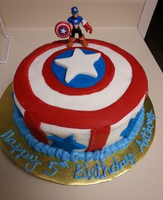 Captain America cake Geek Food Pinterest