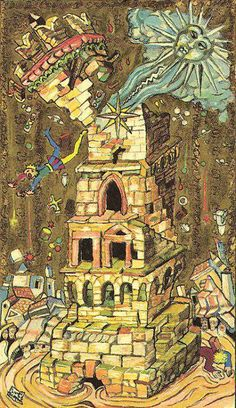 16 ♜ The Tower ♖ The Medieval Scapini #Tarot