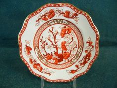 Coalport-Indian-India-Tree-Coral-Scalloped-Bread-and-Butter-Plate-s