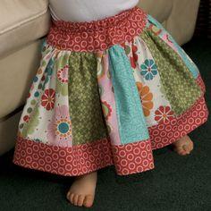 Easy Skirt Patterns for Girls | Twirly Skirt Pattern