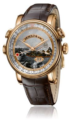 """Arnold & Son Hornet James Cook Set """"Landing at Botany Bay"""" watch Amazing Watches, Beautiful Watches, Cool Watches, Unique Watches, Stylish Watches, Luxury Watches For Men, Arnold Son, Gentleman Watch, Fine Watches"""