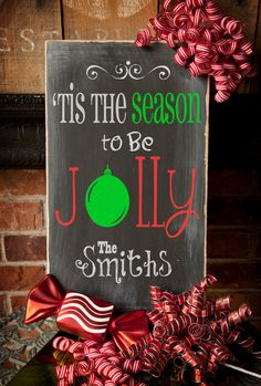 Tis the Season CUSTOM wood sign Christmas by TheAquaAnchor on Etsy, $42.00