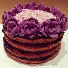 Lavender and black tea cake using lavender sugar.