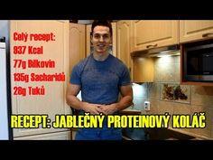 FITNESS RECEPT: Jablečný proteinový koláč - YouTube Fitness, Youtube, Diet, Keep Fit, Rogue Fitness