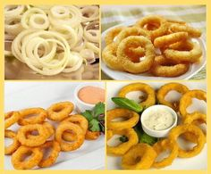 Domáce cibuľové krúžky Fried Onions, Onion Rings, Party Snacks, Creative Food, No Cook Meals, Side Dishes, Good Food, Food And Drink, Easy Meals