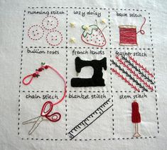Embroidery Stitch Sampler I saw this and fell absolutely in love!!! I just love how they used the techniques in such a creative way :) inspirational!