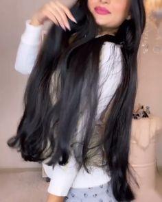 Curly Hair Styles, Natural Hair Styles, Long Hair Video, Hair Growth Treatment, Long Black Hair, Grunge Hair, Smooth Hair, Tips Belleza, Love Hair