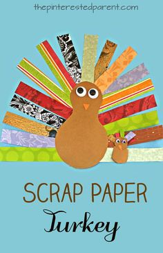 This is a great cutting skills activity and craft. Scrap Paper Turkey Craft for kids. Thanksgiving arts & crafts for preschoolers. Use pieces of scrapbook paper to form this pretty turkey. turkey crafts Scrap Paper Turkey Craft for Thanksgiving Thanksgiving Arts And Crafts, Thanksgiving Activities, Holiday Crafts, Kids Thanksgiving, Kindergarten Thanksgiving Crafts, Thanksgiving Decorations, Holiday Ideas, November Crafts, Turkey Art