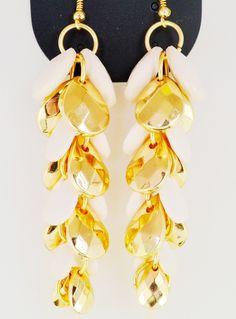 #SheInside White Gold Drop Tassel Dangle Earrings