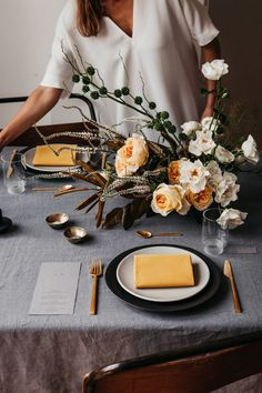 Images of an autumn inspired London city wedding. Rich and autumnal hues meet industrial wedding design and considered clean styling. Wedding Table Decorations, Decoration Table, Wedding Centerpieces, Stage Decorations, Wedding Tables, Industrial Wedding, Wedding Planners, Wedding Designs, Tablescapes