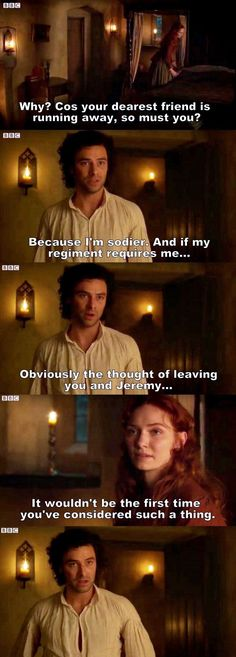 """I'm a soldier. And if my regiment requires me..."" - Ross and Demelza #Poldark"