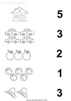 Number matching worksheet cards and preschool kindergarten . - Szilvia Szabó - Welcome to Pin World Matching Worksheets, Kindergarten Math Worksheets, Preschool Kindergarten, Worksheets For Kids, Math Literacy, Preschool Learning Activities, Preschool Curriculum, Preschool Printables, Preschool Writing