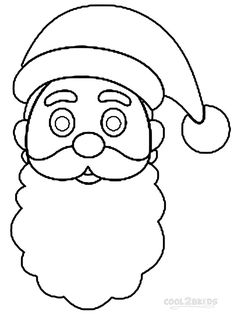 printable santa hat coloring pages for kids cool2bkids - Santa Hat Coloring Pages