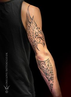 Exquisite Full Sleeve Men Tattoo Ideas Worth Checking Out - maori tattoos Music Tattoo Designs, Music Tattoos, Body Art Tattoos, Calf Tattoos, Rock Tattoo, Tatoos, Tribal Tattoos For Men, Tattoos For Women, Tattoos For Guys