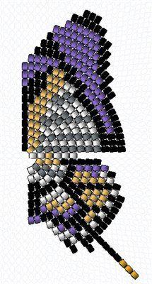 Бабочка - Kavaleri imperialis самец | biser.info - всё о бисере и бисерном творчестве