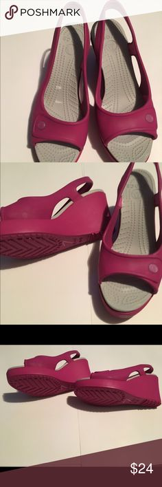 Croc wedges!!!! Brand New!! These are Brand New Never Been worn Croc Wedges!! Super comfy! CROCS Shoes Wedges