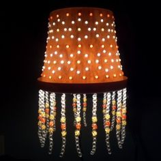 How to make a lamp shade out of a plastic flower pot and Tri beads. Girls Room Paint, Black Painted Furniture, Make A Lamp, Plastic Flower Pots, Pot Lights, Home Decor Paintings, Terracotta Pots, Lamp Shades, Diy Painting