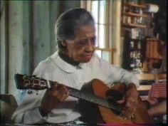 "Need some inspiration? Watch Elizabeth Cotten play her song ""Freight Train"". Her voice is aged but her expression, passion and talent remain. A left hander, she taught herself how to the play the guitar upside down. Amazing!"