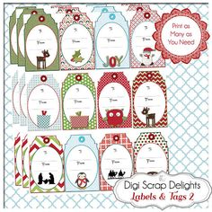 50% Off Sale Printable Christmas Labels & by DigiScrapDelights #christmas #labels #tags  #gifttags #jesusisthereason #printable  #winter #sale