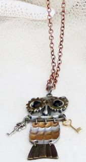 OWL SOLD Shopportunity Etsy Team: Steampunk Owl Necklace From WarmSandsGiftShop