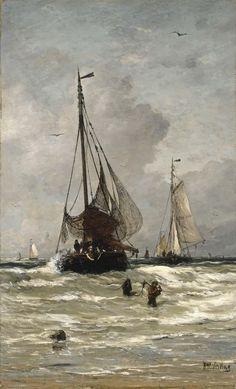 fleurdulys:  The Return of the Fishing Boats - Hendrik Willem Mesdag