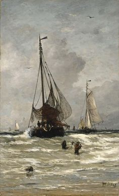 The Return of the Fishing Boats - Hendrik Willem Mesdag