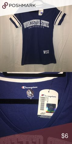 NWT Worcester State University V-Neck t-shirt NWT Champion Tops Tees - Short Sleeve