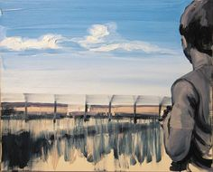 "Saatchi Online Artist: Robert Bubel; Oil, 2013, Painting ""'Behind the fence'"""