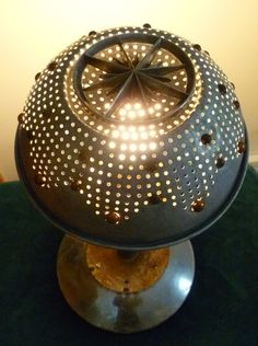 Steampunk  Table Lamp Industrial Lighting Home Decor. $175.00, via Etsy.  LOL will be making this myself for about 20 bucks. Or something similar. I love colander lighting.