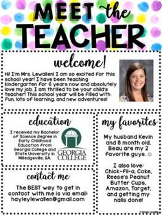 This EDITABLE Meet the Counselor printable is perfect for welcoming students and parents at the beginning of the school year! Choose from 6 Watercolor versions or save ink and use the black and white template. Teacher Welcome Letters, Letter To Teacher, Letter To Students, Letter To Parents, Teaching Kindergarten, Student Teaching, Teaching Ideas, Teaching Letters, Teaching Strategies