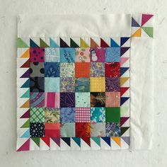 I worked this week to get all 49 of these blocks sashed. I sewed sashing strips to the top and side of each block. Postage Stamp Quilt, Postage Stamps, Quilt Border, Quilt Top, Nine Patch, Applique Designs, Quilting Designs, Pattern Blocks, Quilt Patterns