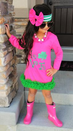 Love Clover Hot Pink Boutique Dress