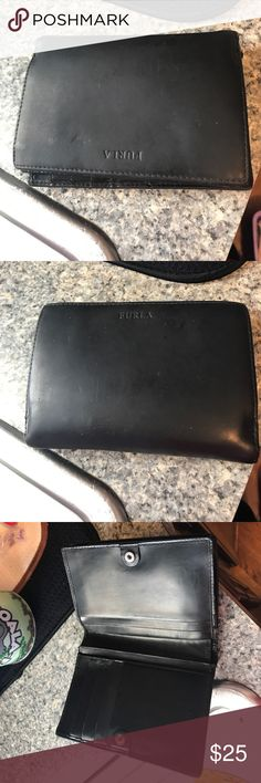 FURLA black wallet In good used condition does have some scuff marks fully workable great deal Furla Bags Wallets