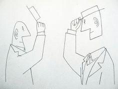 Saul Steinberg fue ilustrador, caricaturista, dibujante y experimentaor artístico. Trabajó durante 50 años en The New Yorker creando sus portadas. En su obra destacan su gran imaginación y la crítica que hace.