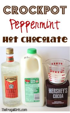 Crockpot Peppermint Hot Chocolate Recipe! ~ from TheFrugalGirls.com ~ this delicious Slow Cooker Peppermint Cocoa will warm you to the toes and is perfect for holiday parties and chilly days! #slowcooker #recipes #thefrugalgirls